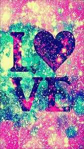 love glitter galaxy iphone android