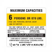 Label 4x4 A Boat Capacities Decal Custom Maximum Capacity Plate Sticker Garzonstudio Com