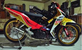 modifikasi honda blade road race
