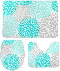 turquoise teal gray bathroom rugs