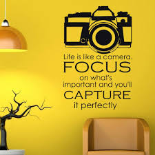 Amazon Com Wall Decal Quote Life Is Like A Camera Focus On What S Important And You Ll Capture It Perfectly Wall Decals Quotes Vinyl Lettering Q134 Kitchen Dining
