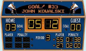 Hockey Scoreboard Peel And Stick Wall Mural