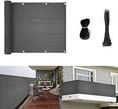 Amazon Com Longdafeius Privacy Screen Fence Mesh For Balcony Window Light 3 X16 Patio Porch Deck Garden Outdoor Protection Windshield Premium Uv Shade Balcony Cover Grey Garden Outdoor