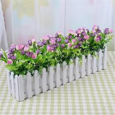Wooden Fence Flower Pot Hanging Garden Basket Planter Plant Fence Artificial Flowers Boxes For Home Garden Wedding Decoration Buy At The Price Of 3 42 In Aliexpress Com Imall Com