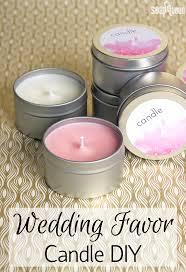 diy wedding favor candles soap queen