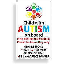 Amazon Com Autism Awareness Sticker Car Safety Decal For Child In Vehicle Car Truck Van Suv Custom Die Cut Automotive