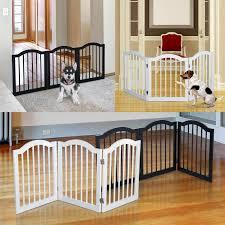 3 Panels Dog Gate Pet Cat Fence Safety Barrier Divider Freestanding Doorway Wood Ebay