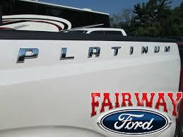 F 150 F 250 F 350 Oem Genuine Ford Qty 1 Platinum Bedside Chrome Emblem Decal Ebay