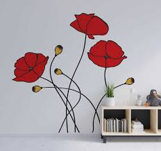 Poppy Spring Flower Flower Wall Sticker Tenstickers