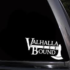 Valhalla Bound Viking Car Sticker Pluto99