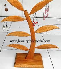 earrings tree in wood from bali indonesia