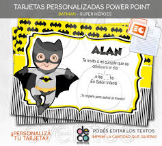 Tarjeta Cumpleanos Batman Super Heroes Power Point Imprimir
