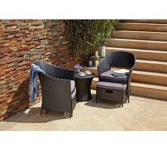 home rattan effect 2 seater egg set