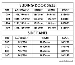 standard sliding glass door dimensions