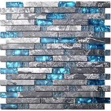 caribbean sea style gray marble mosaic