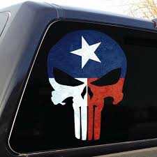 Punisher Skull Texas Flag Military Decal Sticker Graphic 5 Sizes Ebay
