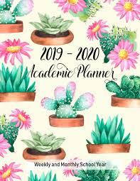 academic planners cute cactus school year calendar