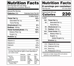 nutrition facts label mark oliver inc