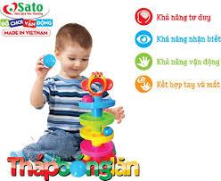 Đồ chơi thả bóng bé yêu - tháp bóng lăn Sato89