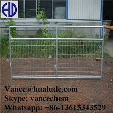 China Metal Livestock Field Farm Fence Gate For Cattle Sheep China Farm Gate Steel Farm Gate