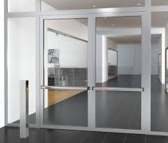 fire rated glass wall in aluminium frames