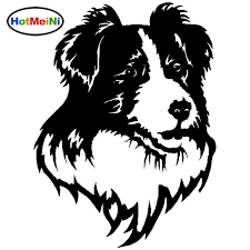 2020 Wholesale Border Collie Dog Car Stickers Stylish Vinyl Decal Car Styling Bumper Accessories From Bulangying 24 13 Dhgate Com