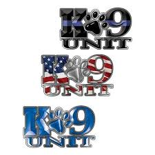 Weston Ink K 9 Unit Law Enforcement Police Dog Decals