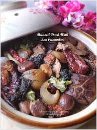 Braised Duck With Sea Cucumber ...
