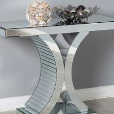 mirror console table groupon