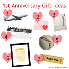 first anniversary gift ideas seeing