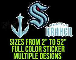 Kraken Vinyl Sticker Etsy