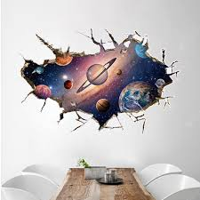 3d Space Planet Removable Wall Sticker The Planet Art Living Room Decorative Sale Price Reviews Gearbest