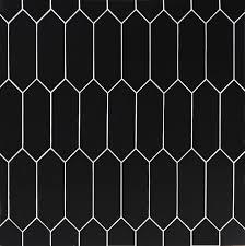 Black Picket Ceramic Tile Ceramic Tiles Ceramic Floor Tiles Black Porcelain Tiles