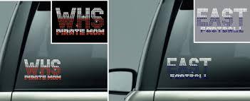 School Spirit Create Your Own Car Decal 15 00 Vs Rhinestone Designs Radiant Rhinestone Transfers Designs And Apparel