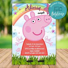 Archivo Digital De Invitacion De Cumpleanos De Peppa Pig Para