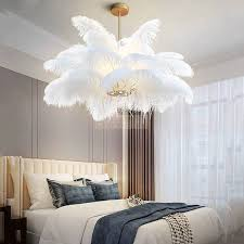 pendant lights natural ostrich feather