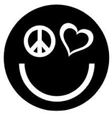 Peace Love Happiness Vinyl Decal Sticker Car Window Wall Laptop Smiley Face Logo Ebay