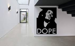 Amazon Com Wall Sticker Famous Singer Reggae Man Dope Music Vinyl Mural Decal Art Decor Eh3108 Handmade