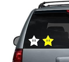 Nintendo Super Mario Star Car Decal Computer Sticker Etsy