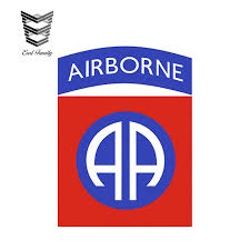 Earlfamily 12cm X 9cm Us Army 82nd Airborne Division Insignia Vinyl Graphics Decal Sticker Car Window Car Stickers Aliexpress