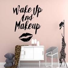 Creative Make Up Vinyl Wall Decal Beauty Salon Stickers For Girl Room Decor Art Decal Bedroom Poster Sticker Make Up Dekoracja Wall Stickers Aliexpress
