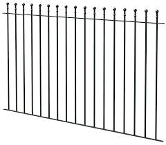 Ball Top Black Fence L 1810mm Departments Diy At B Q