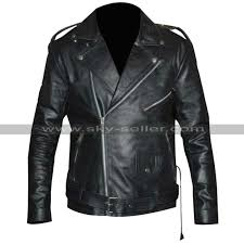 triple h black leather jacket triple