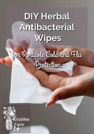 diy herbal antibacterial wipes for