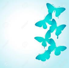 Fondo Con Una Frontera De Mariposas Volando Perfecto Para Las
