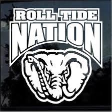 Alabama Roll Tide Nation Window Decal Sticker Custom Sticker Shop