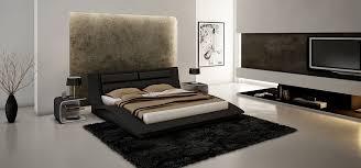 king size modern design black leather