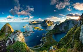 wallpapers norway sunset sea