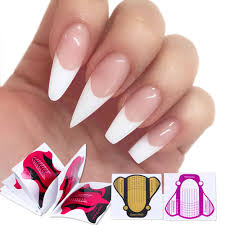 10pcs French Nail Form Gel Nail Extension Stickers For Building