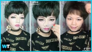 chinese makeup transformation reaction